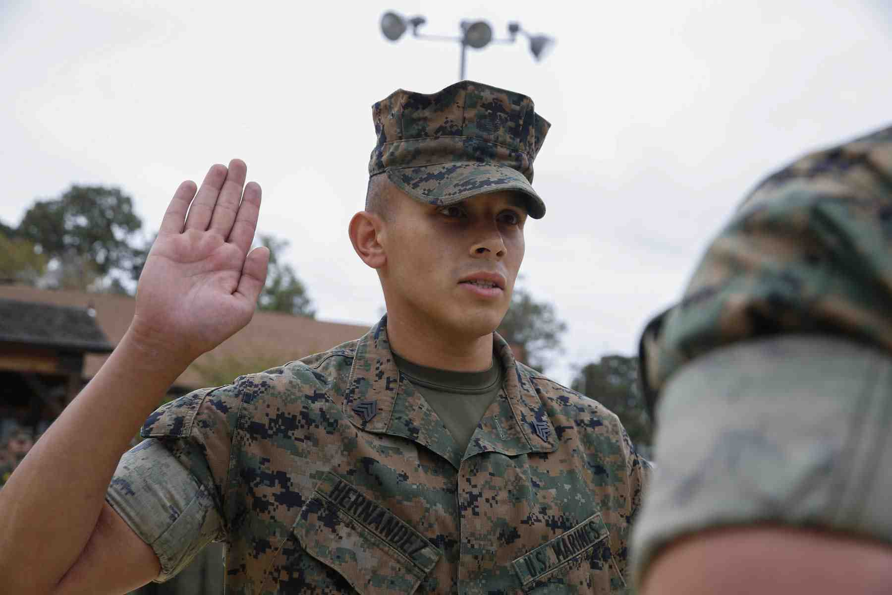 marine, enlistment, oath
